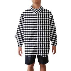 Black And White Scallop Repeat Pattern Wind Breaker (Kids)