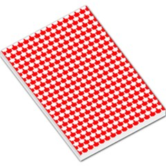 Red And White Scallop Repeat Pattern Large Memo Pads
