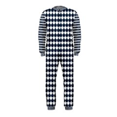 Navy And White Scallop Repeat Pattern OnePiece Jumpsuit (Kids)
