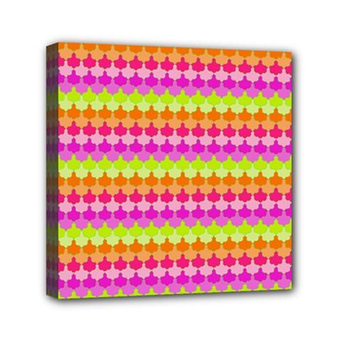 Scallop Pattern Repeat In 'la' Bright Colors Mini Canvas 6  x 6