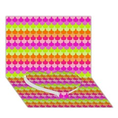 Scallop Pattern Repeat In 'la' Bright Colors Heart Bottom 3d Greeting Card (7x5)