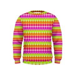 Scallop Pattern Repeat In 'la' Bright Colors Boys  Sweatshirts