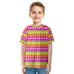 Scallop Pattern Repeat In 'la' Bright Colors Kid s Sport Mesh Tees
