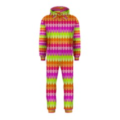 Scallop Pattern Repeat In 'la' Bright Colors Hooded Jumpsuit (kids)