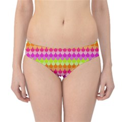 Scallop Pattern Repeat In 'la' Bright Colors Hipster Bikini Bottoms