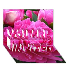 PAEONIA ELEANOR YOU ARE INVITED 3D Greeting Card (7x5)