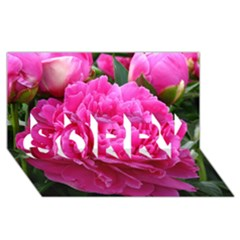 PAEONIA ELEANOR SORRY 3D Greeting Card (8x4)