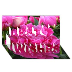 PAEONIA ELEANOR Best Wish 3D Greeting Card (8x4)