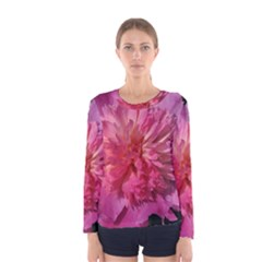 Paeonia Coral Women s Long Sleeve T Shirts