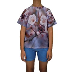 CHERRY BLOSSOMS Kid s Short Sleeve Swimwear