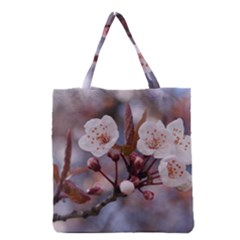 Cherry Blossoms Grocery Tote Bags