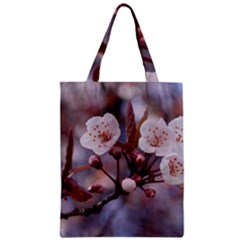 CHERRY BLOSSOMS Zipper Classic Tote Bags