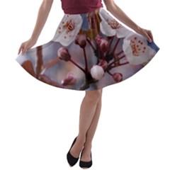 Cherry Blossoms A Line Skater Skirt