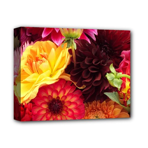 BUNCH OF FLOWERS Deluxe Canvas 14  x 11
