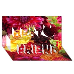 BUNCH OF FLOWERS Best Friends 3D Greeting Card (8x4)