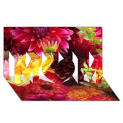 BUNCH OF FLOWERS MOM 3D Greeting Card (8x4)