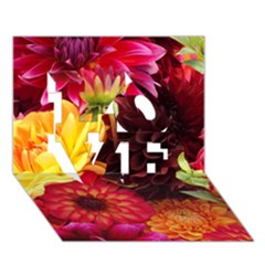BUNCH OF FLOWERS LOVE 3D Greeting Card (7x5)