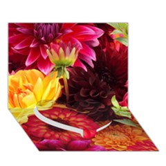 BUNCH OF FLOWERS Heart Bottom 3D Greeting Card (7x5)