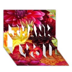 BUNCH OF FLOWERS THANK YOU 3D Greeting Card (7x5)