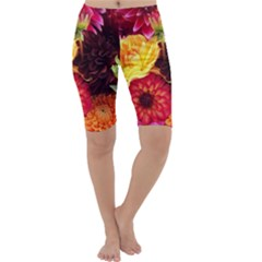 Bunch Of Flowers Cropped Leggings