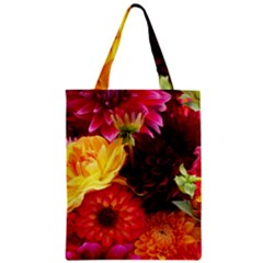 Bunch Of Flowers Zipper Classic Tote Bags