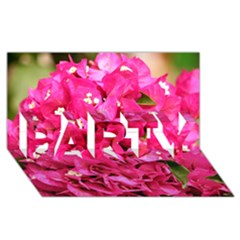 Bougainvillea Party 3d Greeting Card (8x4)