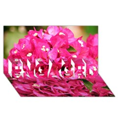 BOUGAINVILLEA ENGAGED 3D Greeting Card (8x4)