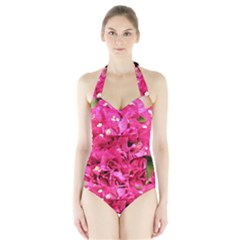 BOUGAINVILLEA Women s Halter One Piece Swimsuit