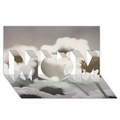 BLACK AND WHITE FLOWER MOM 3D Greeting Card (8x4)