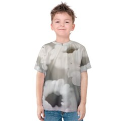 BLACK AND WHITE FLOWER Kid s Cotton Tee