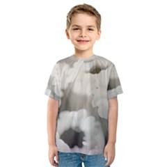 BLACK AND WHITE FLOWER Kid s Sport Mesh Tees