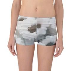 BLACK AND WHITE FLOWER Reversible Boyleg Bikini Bottoms