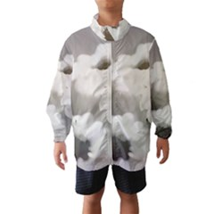 BLACK AND WHITE FLOWER Wind Breaker (Kids)