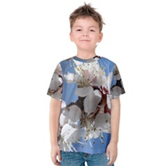 APRICOT BLOSSOMS Kid s Cotton Tee