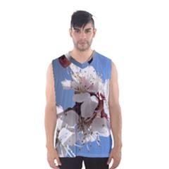 Apricot Blossoms Men s Basketball Tank Top