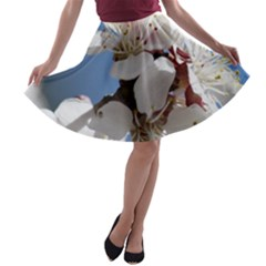 APRICOT BLOSSOMS A-line Skater Skirt