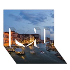 VENICE CANAL I Love You 3D Greeting Card (7x5)