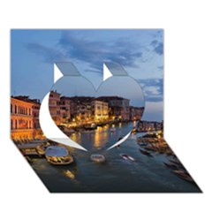 VENICE CANAL Heart 3D Greeting Card (7x5)