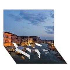 VENICE CANAL LOVE Bottom 3D Greeting Card (7x5)
