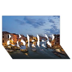 VENICE CANAL SORRY 3D Greeting Card (8x4)