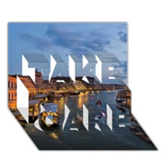 VENICE CANAL TAKE CARE 3D Greeting Card (7x5)