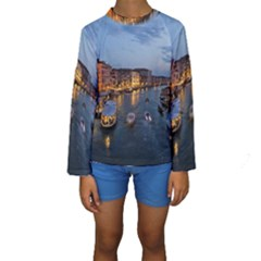 VENICE CANAL Kid s Long Sleeve Swimwear