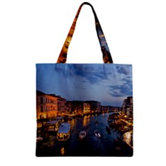 Venice Canal Zipper Grocery Tote Bags