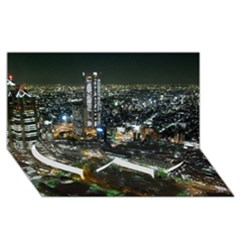 TOKYO NIGHT Twin Heart Bottom 3D Greeting Card (8x4)