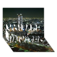 TOKYO NIGHT YOU ARE INVITED 3D Greeting Card (7x5)