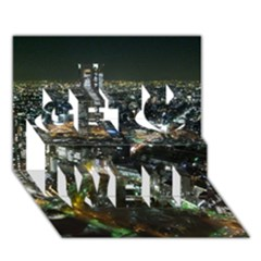 TOKYO NIGHT Get Well 3D Greeting Card (7x5)