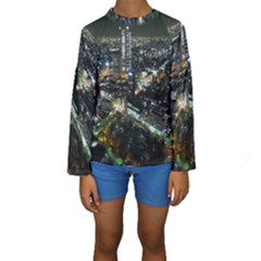 TOKYO NIGHT Kid s Long Sleeve Swimwear