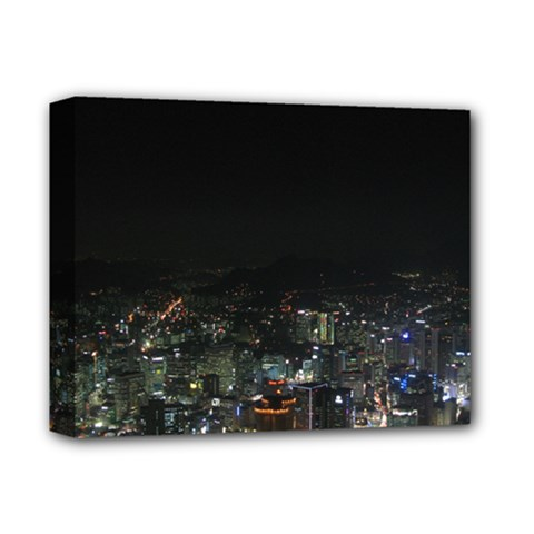 SEOUL NIGHT LIGHTS Deluxe Canvas 14  x 11