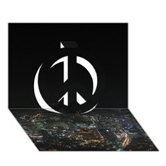 SEOUL NIGHT LIGHTS Peace Sign 3D Greeting Card (7x5)