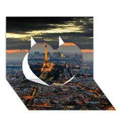 PARIS FROM ABOVE Heart 3D Greeting Card (7x5)